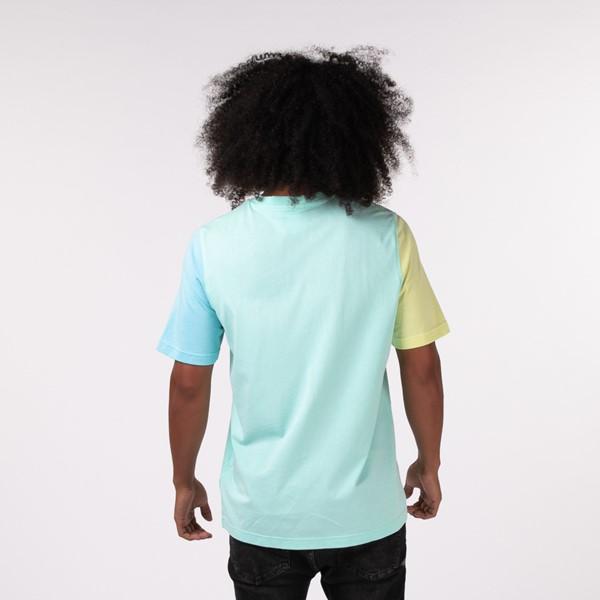 alternate view Mens adidas Blocked Trefoil Tee - Clear Mint / Yellow Tint / Hazy SkyALT1