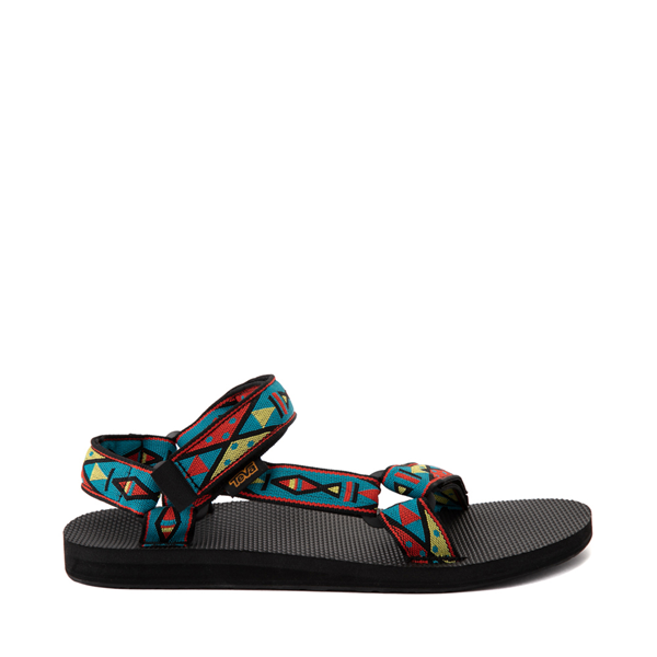 Main view of Mens Teva Original Universal Sandal - Black / Geometric Print