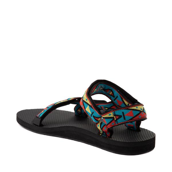 alternate view Mens Teva Original Universal Sandal - Black / Geometric PrintALT1