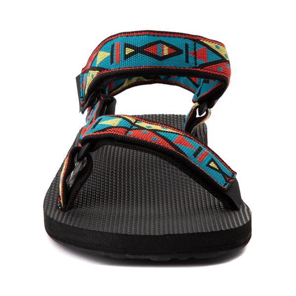 alternate view Mens Teva Original Universal Sandal - Black / Geometric PrintALT4