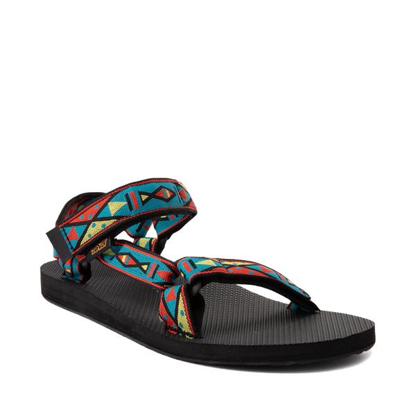alternate view Mens Teva Original Universal Sandal - Black / Geometric PrintALT5