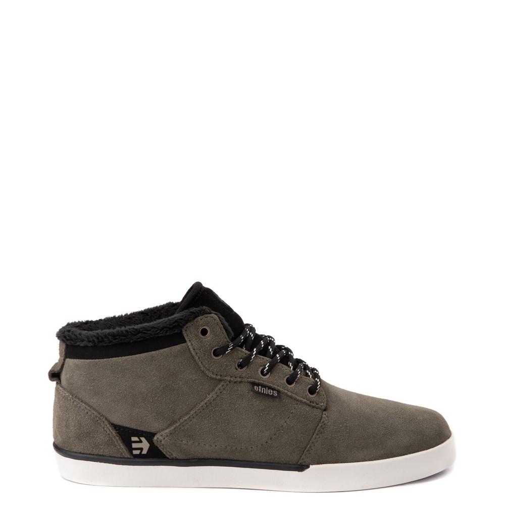 Mens etnies Jefferson Mid Skate Shoe - Olive