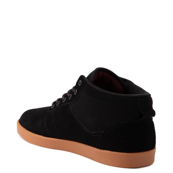 alternate view Mens etnies Jefferson Mid Skate Shoe - Black / GumALT1
