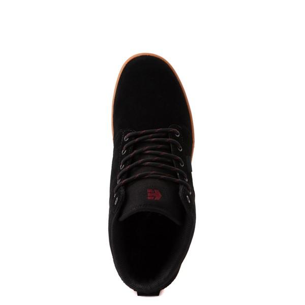 alternate view Mens etnies Jefferson Mid Skate Shoe - Black / GumALT2