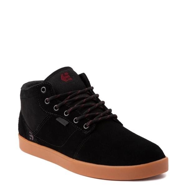 alternate view Mens etnies Jefferson Mid Skate Shoe - Black / GumALT5