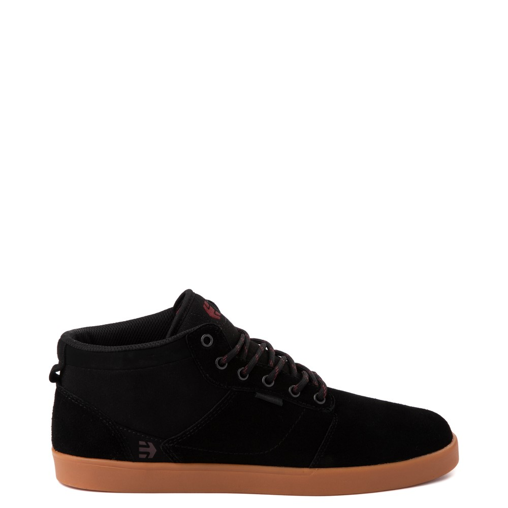 Mens etnies Jefferson Mid Skate Shoe - Black / Gum