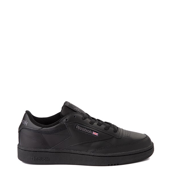 Main view of Mens Reebok Club C 85 Athletic Shoe - Black / Charcoal