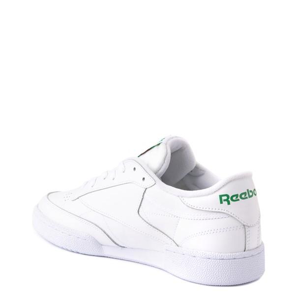 alternate view Mens Reebok Club C 85 Athletic Shoe - White / GreenALT1