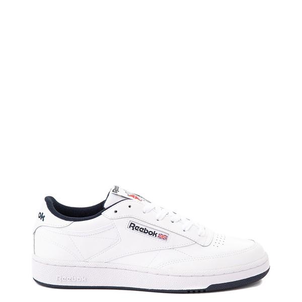 Main view of Mens Reebok Club C 85 Athletic Shoe - White / Navy