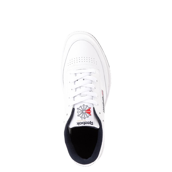 alternate view Mens Reebok Club C 85 Athletic Shoe - White / NavyALT2