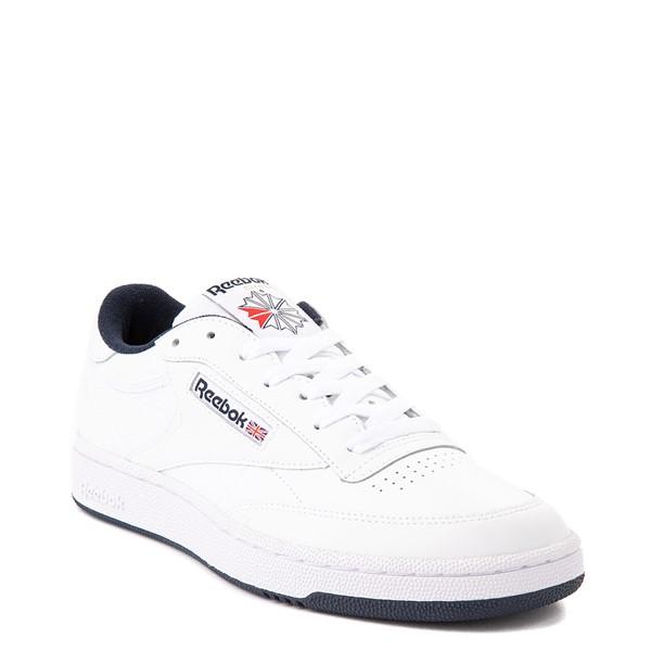 alternate view Mens Reebok Club C 85 Athletic Shoe - White / NavyALT5
