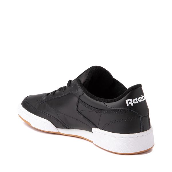 alternate view Mens Reebok Club C 85 Athletic Shoe - Black / GumALT1