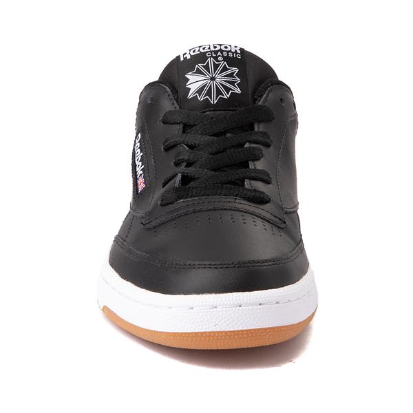 alternate view Mens Reebok Club C 85 Athletic Shoe - Black / GumALT4