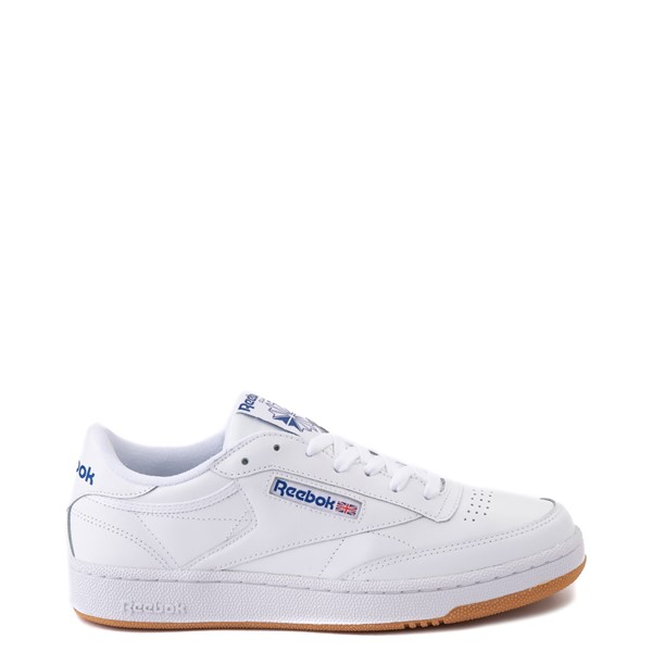 Main view of Mens Reebok Club C 85 Athletic Shoe - White / Royal Blue / Gum