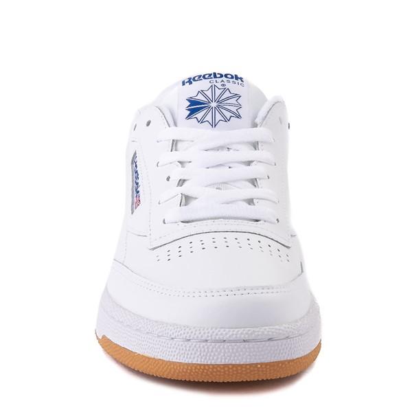 alternate view Mens Reebok Club C 85 Athletic Shoe - White / Royal Blue / GumALT4
