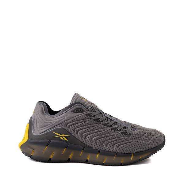 Main view of Mens Reebok Zig Kinetica Athletic Shoe - Gray / Yellow