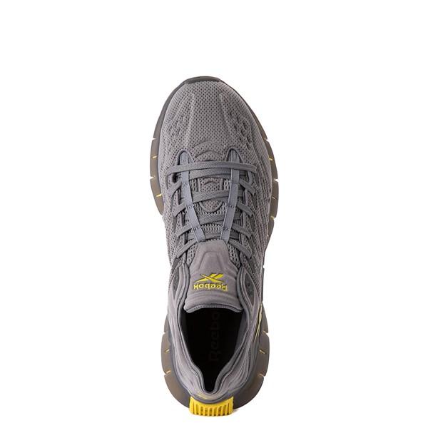 alternate view Mens Reebok Zig Kinetica Athletic Shoe - Gray / YellowALT4B