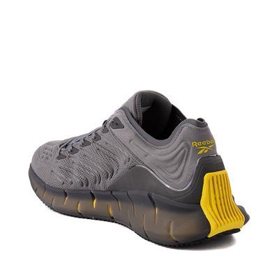 Alternate view of Mens Reebok Zig Kinetica Athletic Shoe - Gray / Yellow