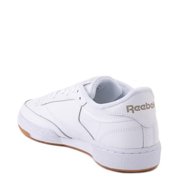 alternate view Womens Reebok Club C 85 Athletic Shoe - White / Gray / GumALT1