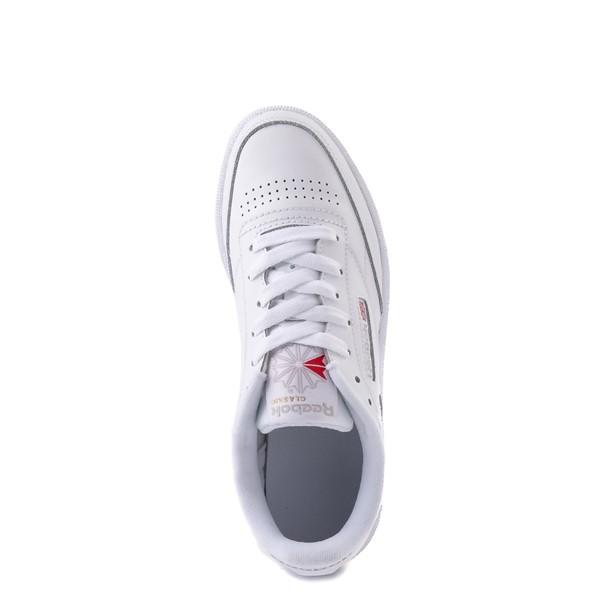 alternate view Womens Reebok Club C 85 Athletic Shoe - White / Gray / GumALT2