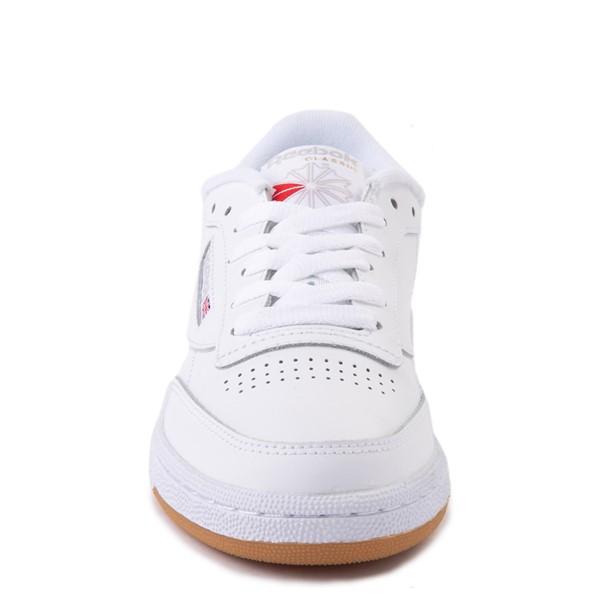 alternate view Womens Reebok Club C 85 Athletic Shoe - White / Gray / GumALT4