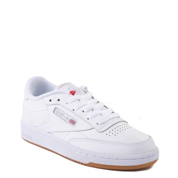 alternate view Womens Reebok Club C 85 Athletic Shoe - White / Gray / GumALT5