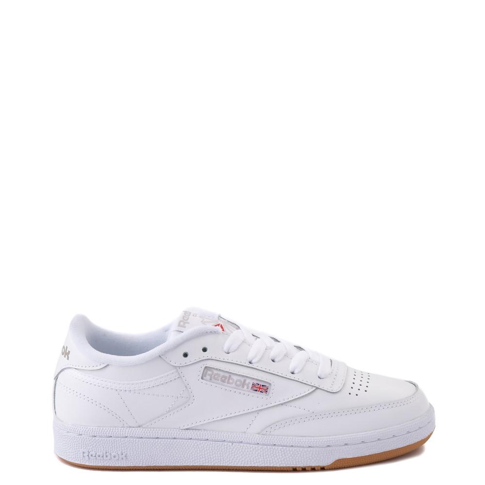 Womens Reebok Club C 85 Athletic Shoe - White / Gray / Gum