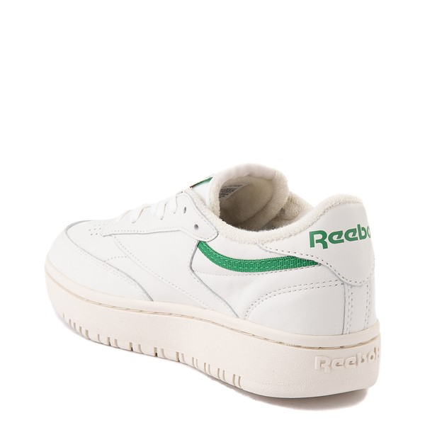 alternate view Womens Reebok Club C Double Athletic Shoe - Chalk / GreenALT1