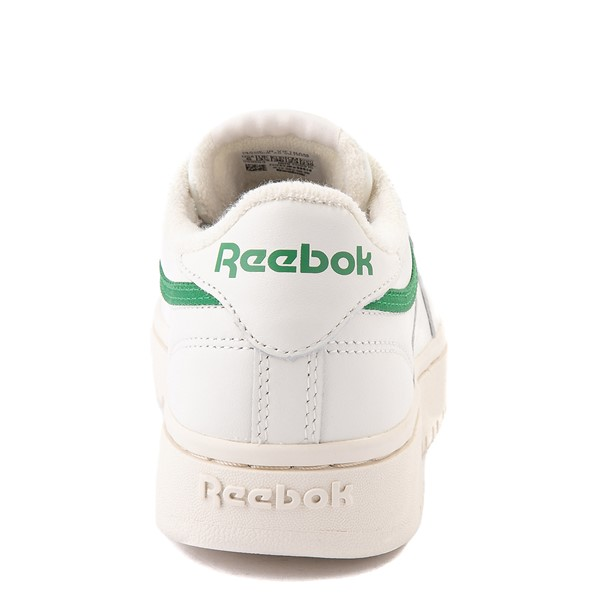 alternate view Womens Reebok Club C Double Athletic Shoe - Chalk / GreenALT4