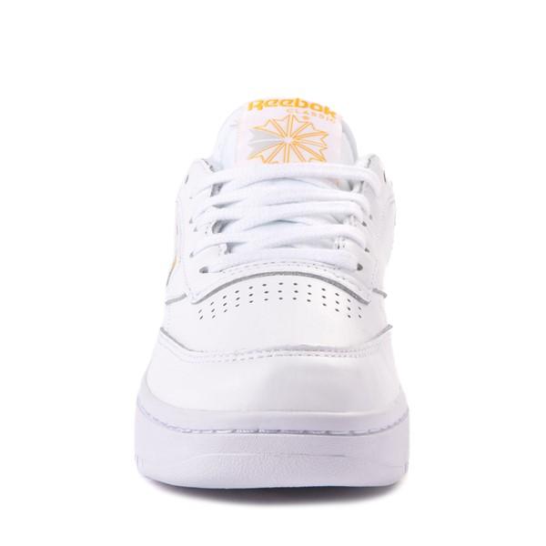 alternate view Womens Reebok Club C Double Athletic Shoe - White / GoldALT4