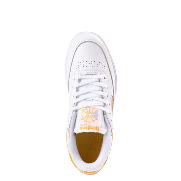alternate view Womens Reebok Club C Double Athletic Shoe - White / GoldALT4B