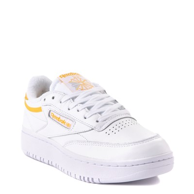 Alternate view of Womens Reebok Club C Double Athletic Shoe - White / Gold