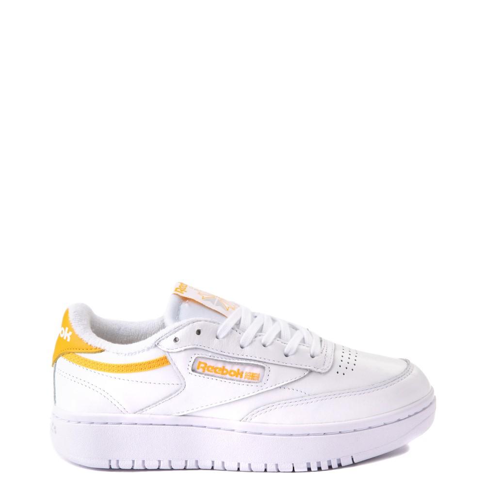 Womens Reebok Club C Double Athletic Shoe - White / Gold