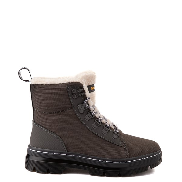 Main view of Dr. Martens Combs Fleece-Lined Boot - Gray