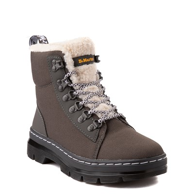 Alternate view of Dr. Martens Combs Fleece-Lined Boot - Gray