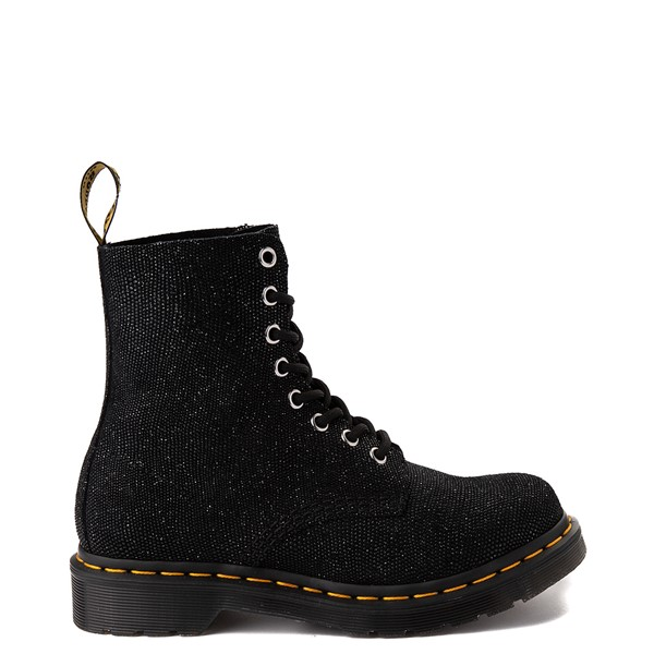Main view of Womens Dr. Martens 1460 Pascal Glitter Ray 8-Eye Boot - Black