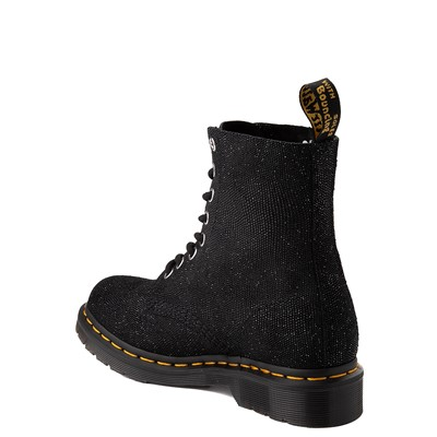 Alternate view of Womens Dr. Martens 1460 Pascal Glitter Ray 8-Eye Boot - Black