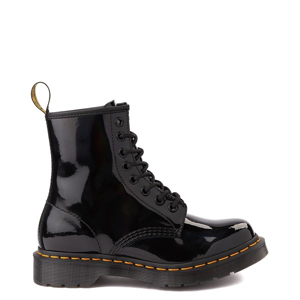 Main view of Womens Dr. Martens 1460 8-Eye Patent Boot - Black / Rainbow