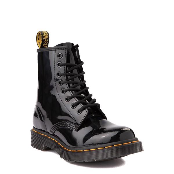 alternate view Womens Dr. Martens 1460 8-Eye Patent Boot - Black / RainbowALT1