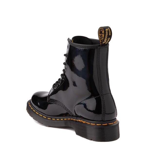 alternate view Womens Dr. Martens 1460 8-Eye Patent Boot - Black / RainbowALT2
