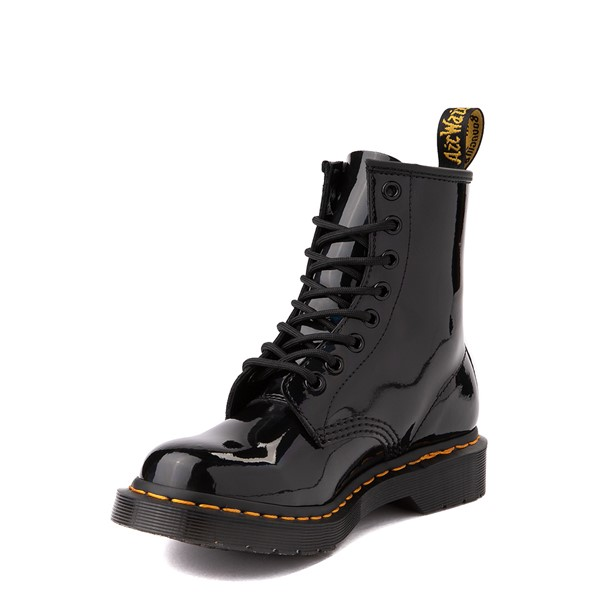 alternate view Womens Dr. Martens 1460 8-Eye Patent Boot - Black / RainbowALT3