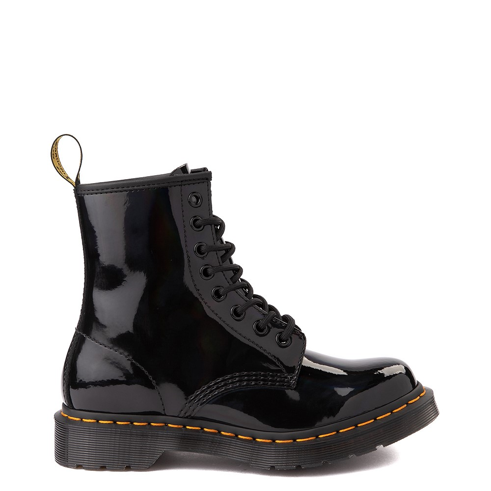 Womens Dr. Martens 1460 8-Eye Patent Boot - Black / Rainbow
