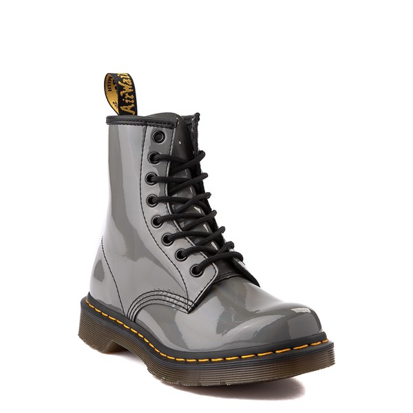 alternate view Womens Dr. Martens 1460 8-Eye Patent Boot - Silver RainbowALT1