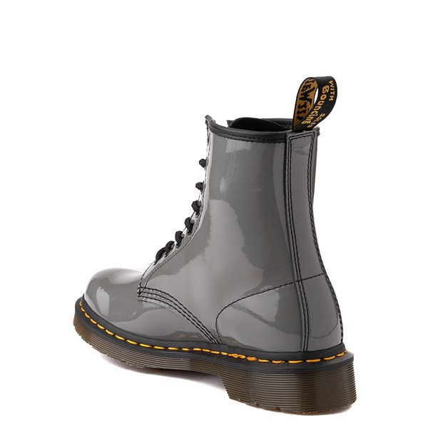 alternate view Womens Dr. Martens 1460 8-Eye Patent Boot - Silver RainbowALT2