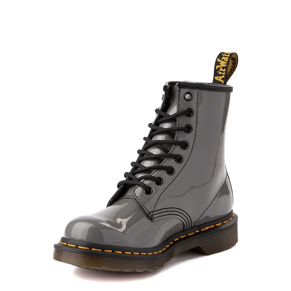 alternate view Womens Dr. Martens 1460 8-Eye Patent Boot - Silver RainbowALT3