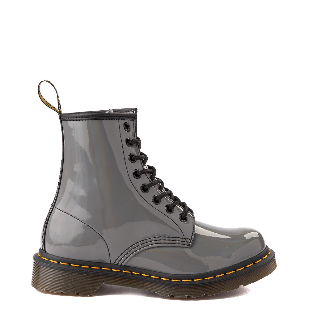 Womens Dr. Martens 1460 8-Eye Patent Boot - Silver Rainbow