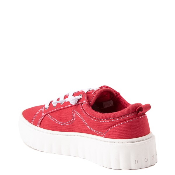 alternate view Womens Roxy Sheilahh Platform Casual Shoe - RedALT2