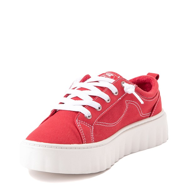 alternate view Womens Roxy Sheilahh Platform Casual Shoe - RedALT3