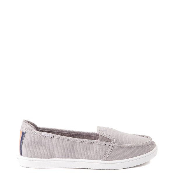 Main view of Womens Roxy Minnow Slip On Casual Shoe - Gray