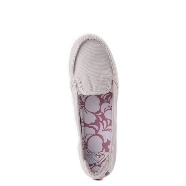 alternate view Womens Roxy Minnow Slip On Casual Shoe - GrayALT4B